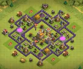 Coc th7 war base anti 3 star town hall 7 war base anti dragon and hogs