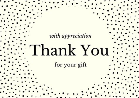 Thank You Card For A Gift - birthday gift thank you note wording exles free resource