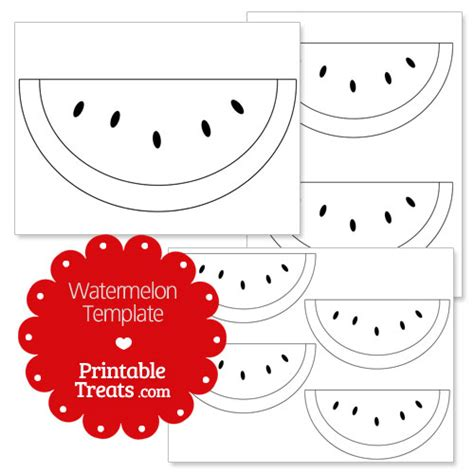 watermelon template printable watermelon template printable treats