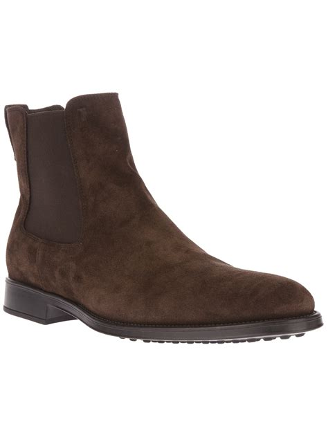chealsea boots tod s chelsea boot in brown for lyst