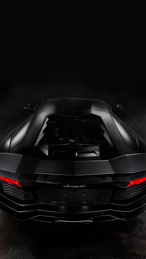 wallpaper engine for iphone black lamorghini aventador back engine view iphone 5