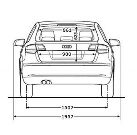 Audi A3 Sportback Abmessungen by Floh 180 S A3 Seite Abmessungen Audi A3 8p 8pa