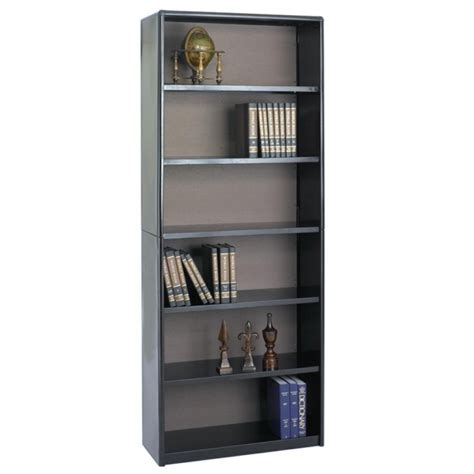 bookcase back panel material safco valuemate bookcase steel black 1 each