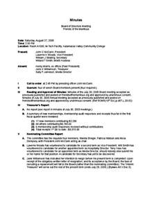 how to take minutes at a board meeting template exle board of director meeting minutes free