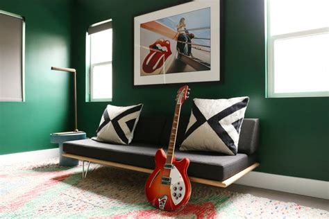 dark green living room 23 green wall designs decor ideas for living room