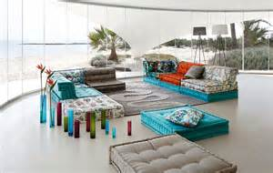 roche bobois trendy mah jong sofa gets draped in