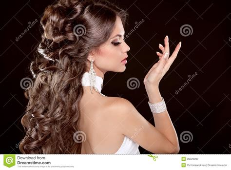 hairstyles for long hair glamour hairstyle long hair glamour fashion woman portrait of