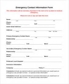 Employee Information Form Template by Sle Employee Information Form 10 Exles In Pdf Word