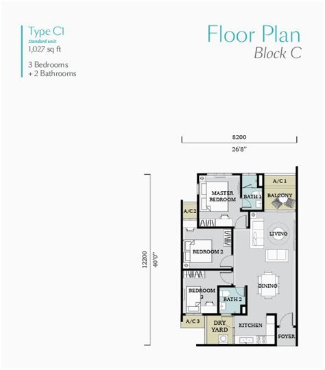 the block floor plans fortune perdana