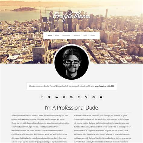 themes for profile pictures profile un cv au format wordpress