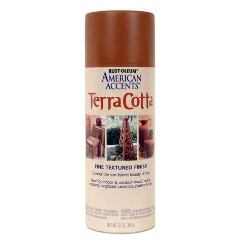 spray painting terracotta pots rust oleum american accents 12 oz terra cotta flat clay