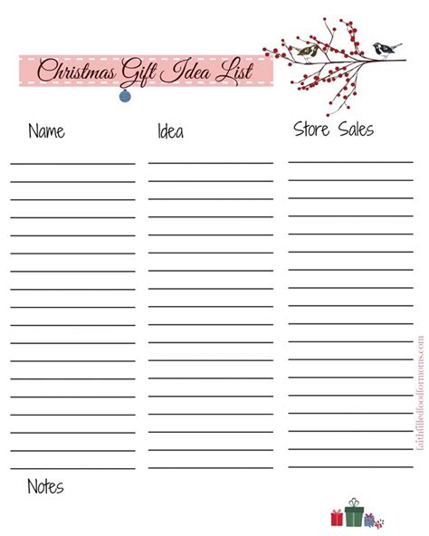 christmas list printable s to help with your holiday planning