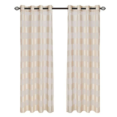 curtains 64 length lavish home cream sofia grommet curtain panel 84 in