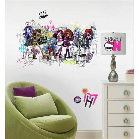 monster high bedroom accessories new giant monster high group wall decals girls room