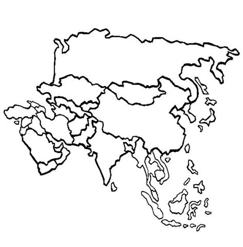blank map coloring page asia map coloring sheet page image galleries grig3 org