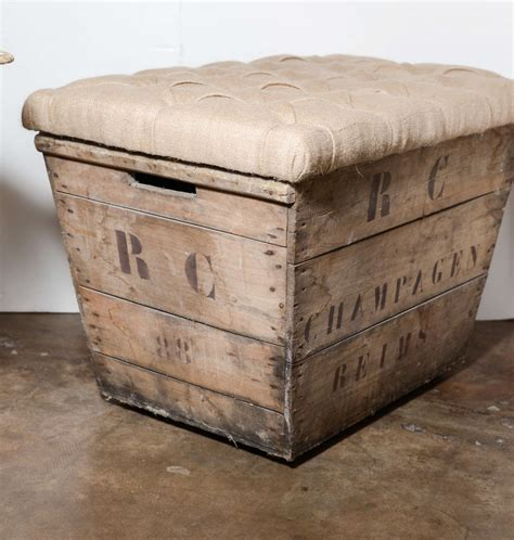chagne crate bench at 1stdibs