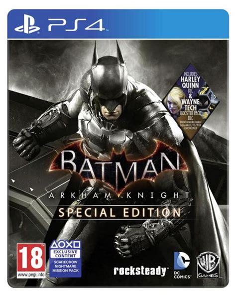 Ps4 Batman Arkham Special Edition Steelcase Reg 2 buy batman arkham ps4 special edition steelbook wayne tech booster pack dlc all