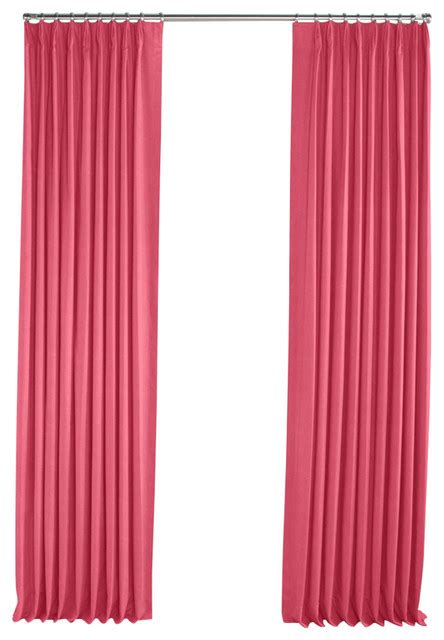 Bright Pink Curtains Bright Pink Linen Pleated Curtain Single Panel Contemporary Curtains By Loom Decor