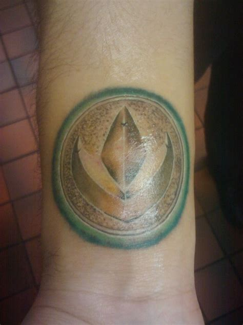 power rangers tattoo green ranger power coin tattoos and ink