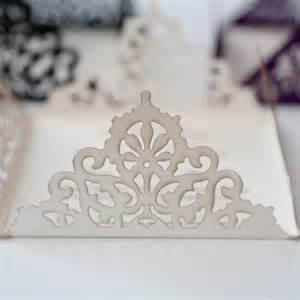 Pocketfold Lace Edged Ivory Square Laser Cut Wedding Invitation Vintage Wedding Stationery Scotland
