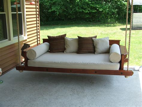 outdoor swinging bed porch swing bed