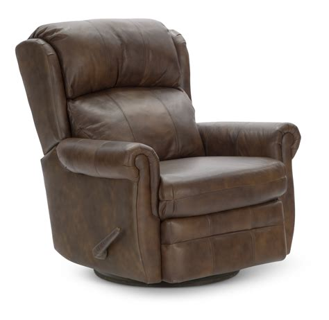Error Hom Furniture Leather Swivel Recliner Chair