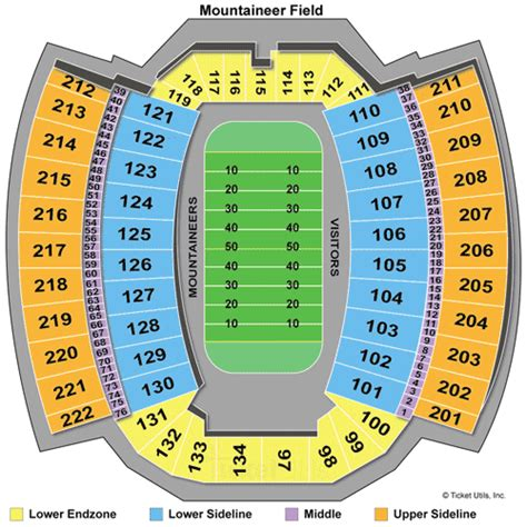 wvu seating chart west virginia mountaineers tickets 2018 wvu football tickets