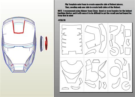 iron mask template an iron helmet and armor how to make iron