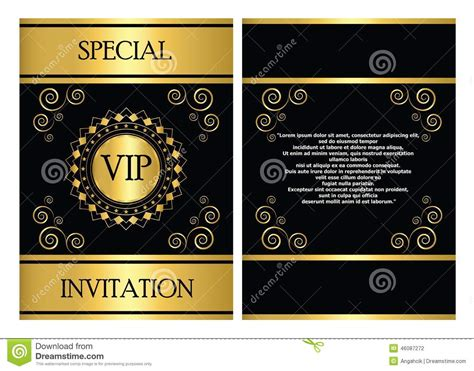 Vip Invitation Card Template Stock Vector Illustration Of Company Template 46087272 Vip Birthday Invitations Templates Free