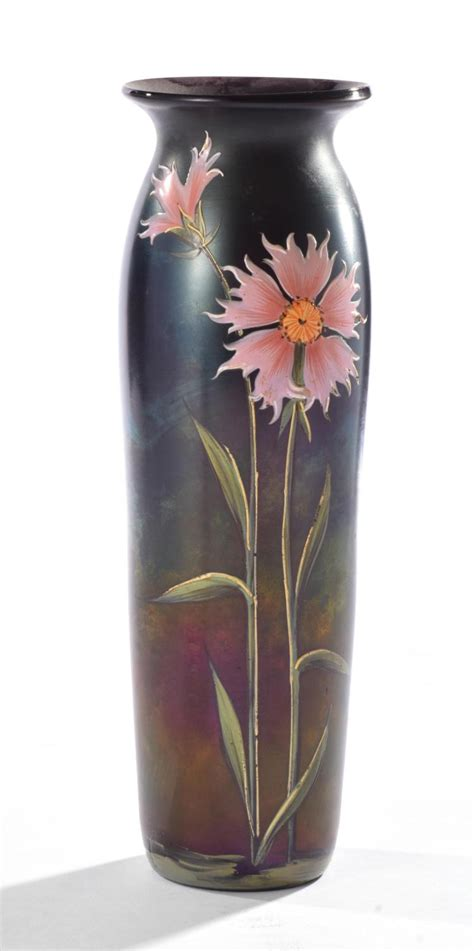 Painted Glass Vases Aurene Painted Glass Vase