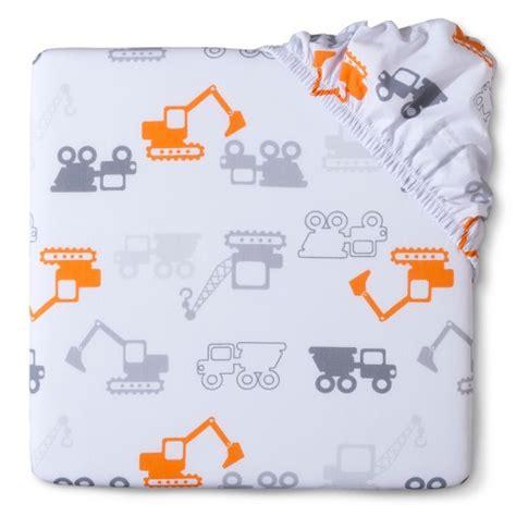 circo woven fitted crib sheet truck n target
