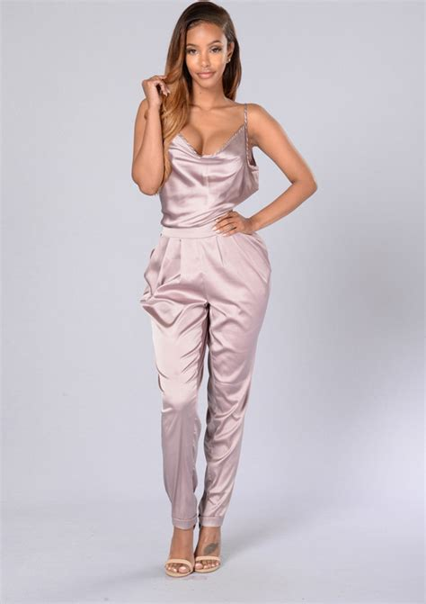 Preorder Romper Bayi Import High Quality 1 backless romper pink satin jumpsuit 2016 summer one ebay