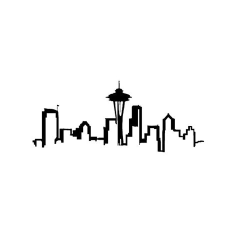New York Wall Stickers 25 best ideas about seattle skyline tattoo on pinterest