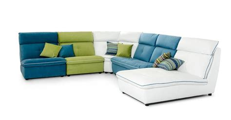 multi color sectional sofa multi color italian contemporary leather and fabric