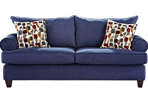 find upholstery shops shop for a ansley park navy sofa at rooms to go find