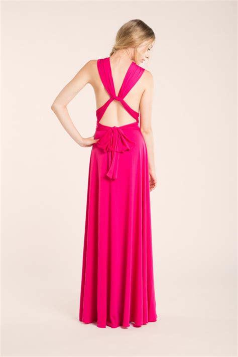 Pink Fuchsia Dress pink bridesmaid dress fuchsia dress pink maxi