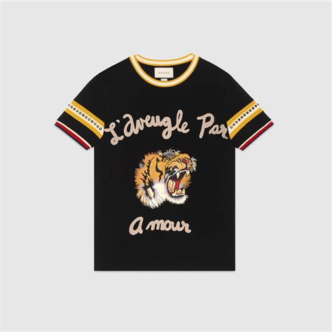 Di Tshirt cotton t shirt with tiger gucci s t shirts