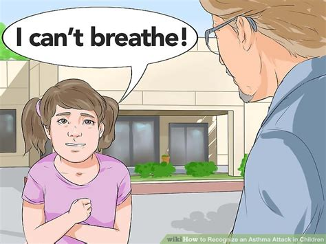 asthma aid children how to recognize an asthma attack in children with pictures
