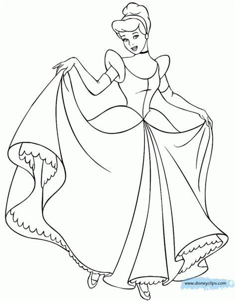 cinderella and prince coloring page coloring pages