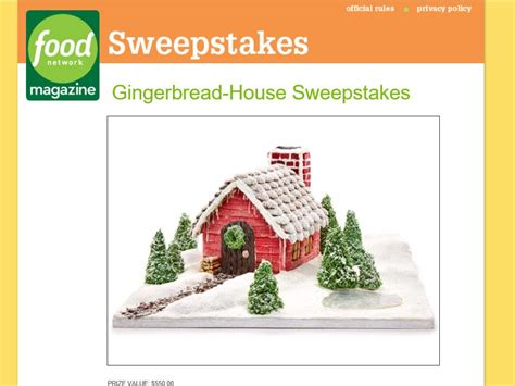 Food Network Magazine Sweepstakes - food network magazine gingerbread house sweepstakes sweepstakes fanatics