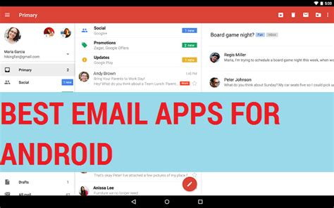 best android email app blue email app images