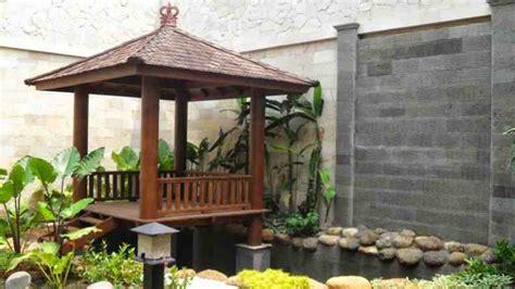 taman belakang rumah  gazebo gambar desain rumah