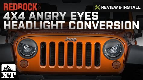 jeep angry headlights jeep wrangler redrock 4x4 angry headlight conversion