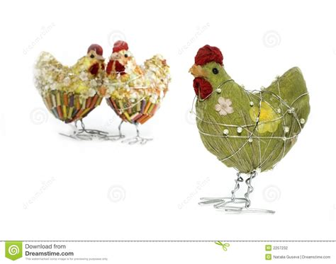 Chicken Decorations by Easter Chicken Decor Stock Photography Image