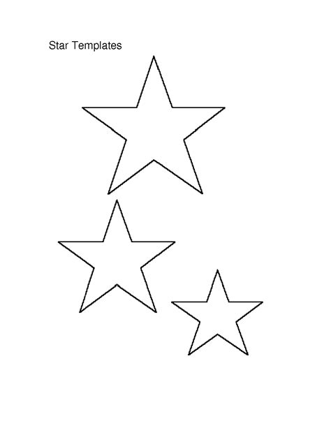 6 best images of small star stencils free printable
