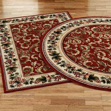 inspiration grapes and acanthus area rugs