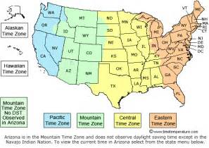 us time zone map with cities time zone