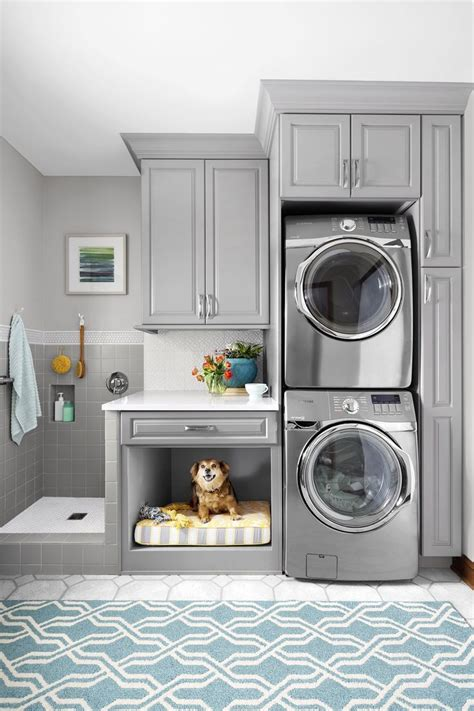 Laundry Room For Vertical Spaces Dog Washing Station Gray Laundry