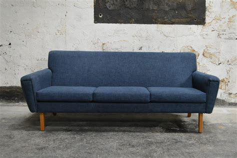 Swedish Mid Century Modern Blue Sofa At 1stdibs