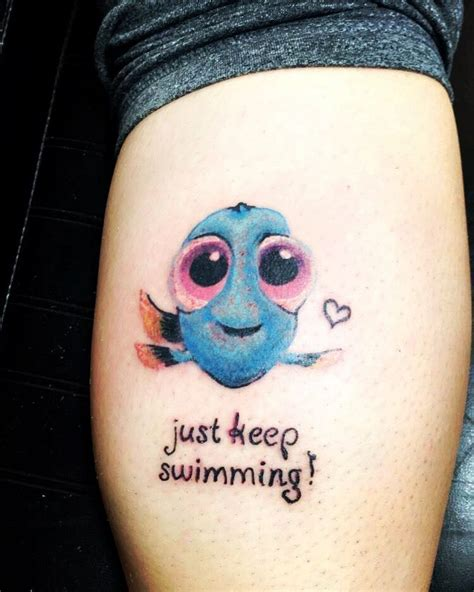 tattoos and swimming finally got my baby dory that represents my